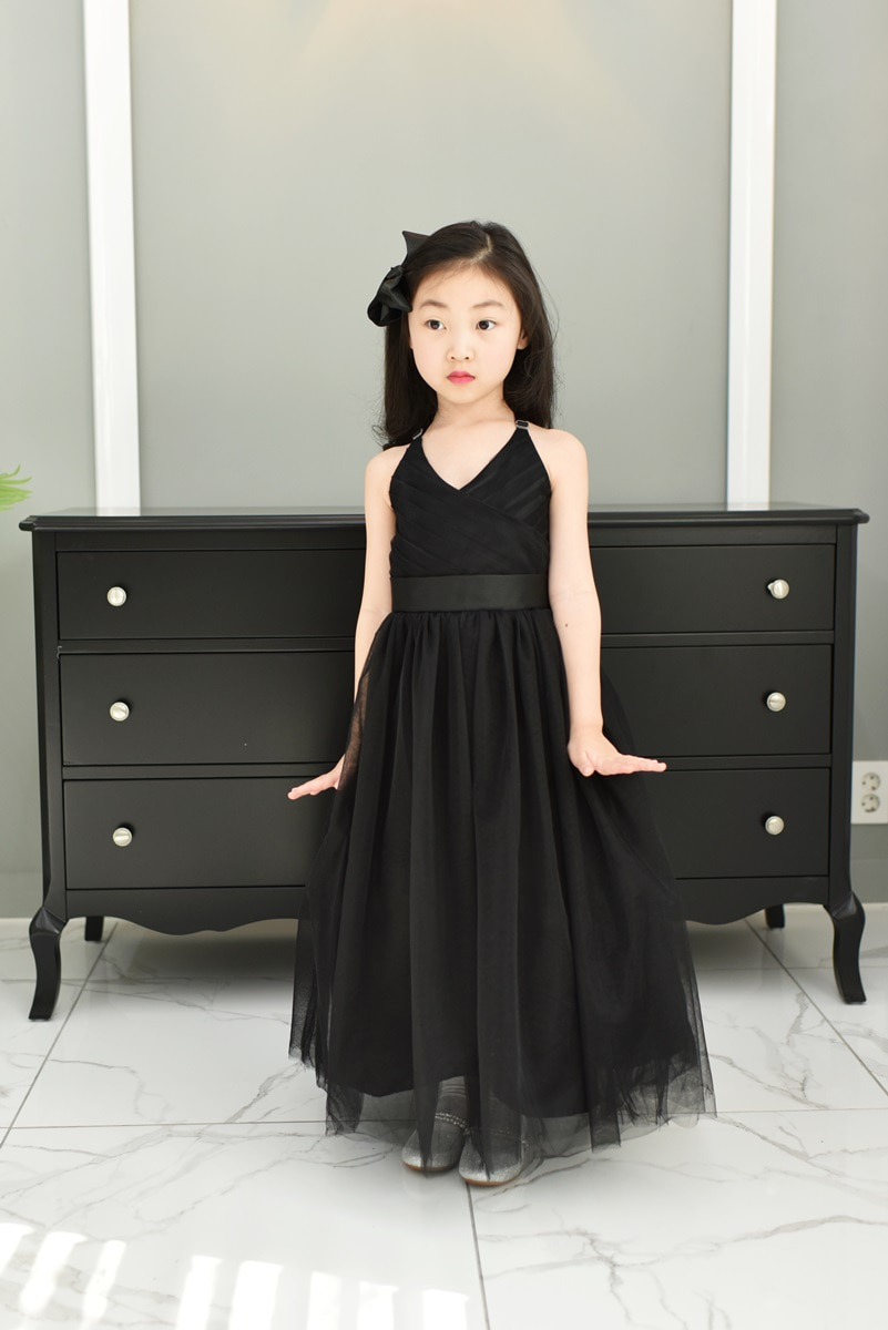 JDL19004/RENTAL/Princess / Sleeveless Dress/ Black