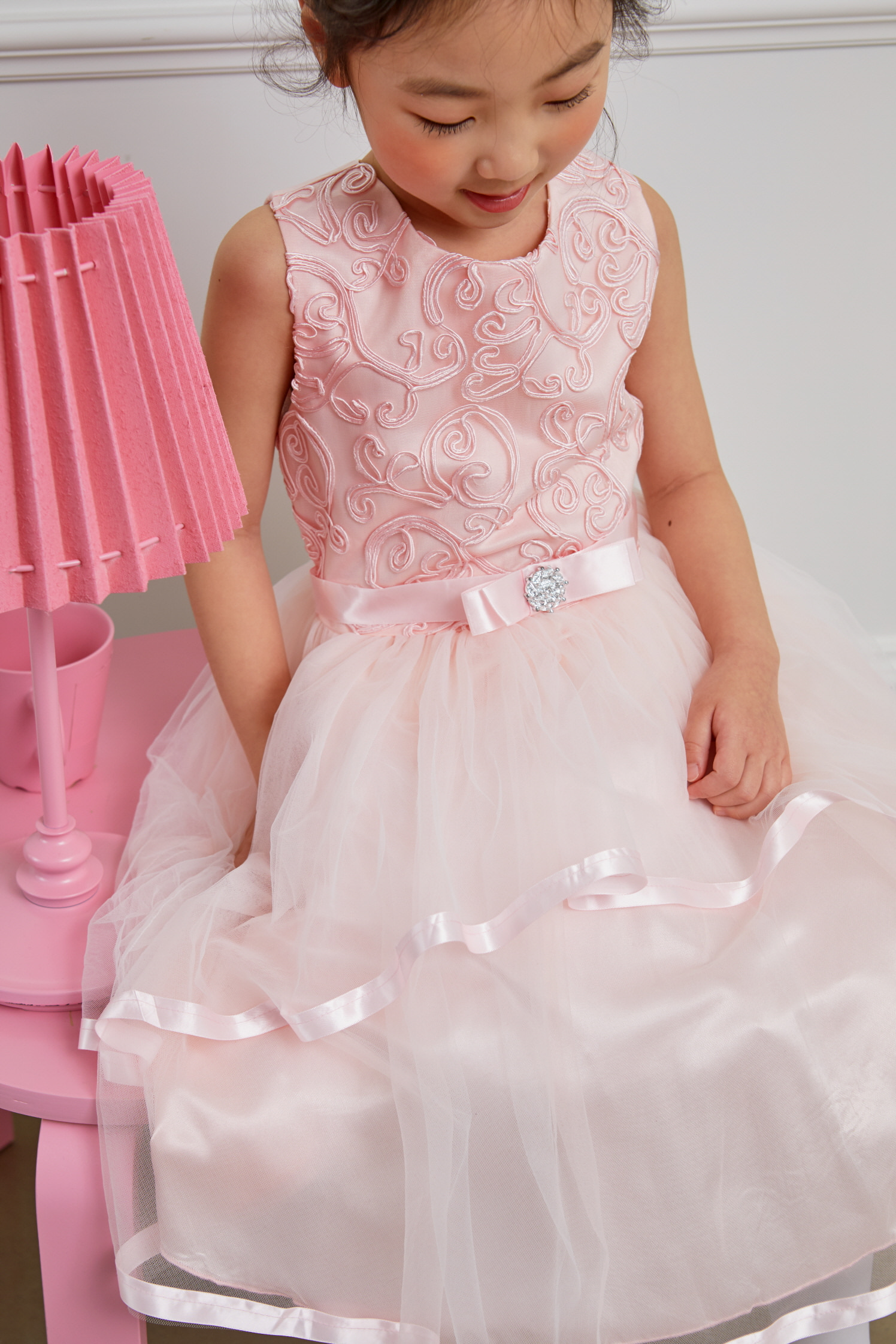 JDM19101/Flower Girls Pink Dress