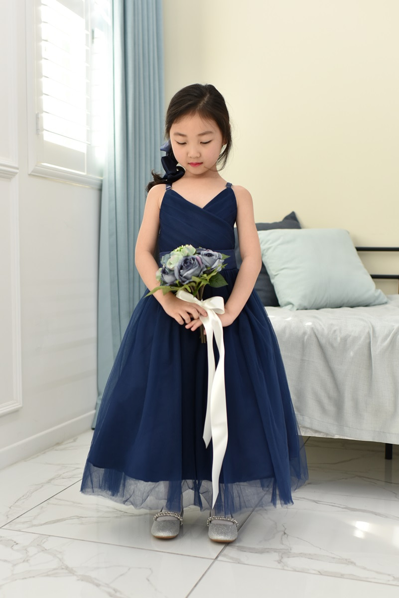 JDL19002/Princess / Sleeveless Dress/ NAVY BLUE / Today delivery (1PM)
