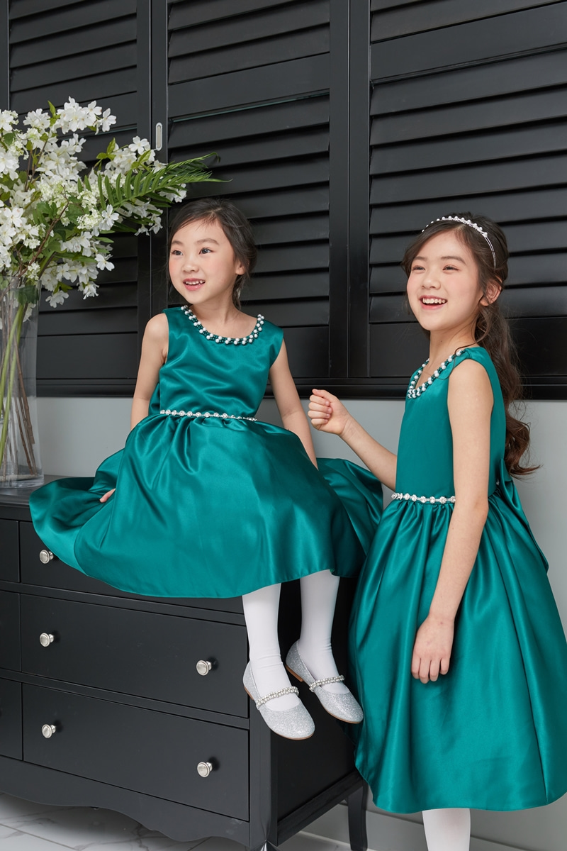 JDM19105/Green Sleeveless Mini  Dress