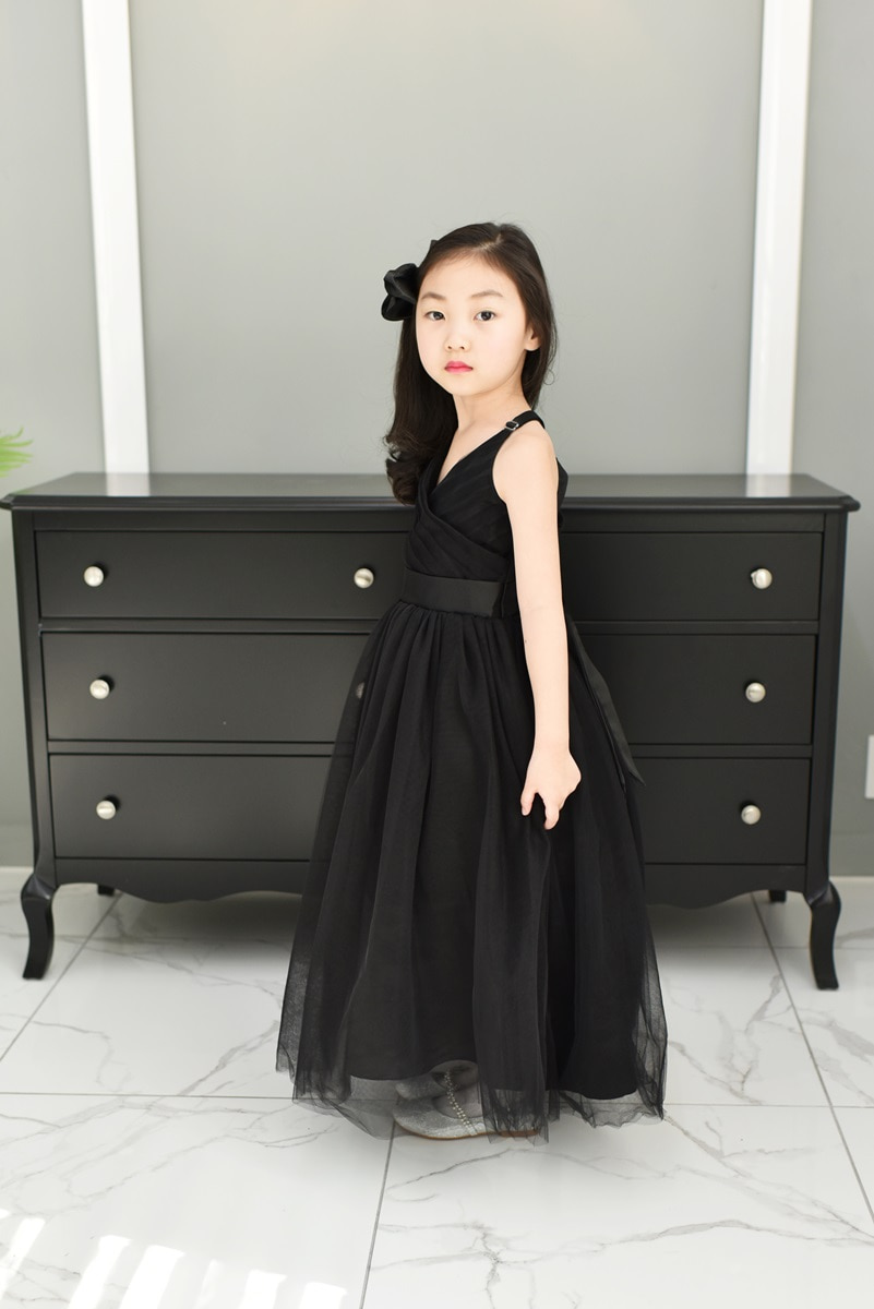 JDL19004/Princess / Sleeveless Dress/ Black /Today delivery (1PM)