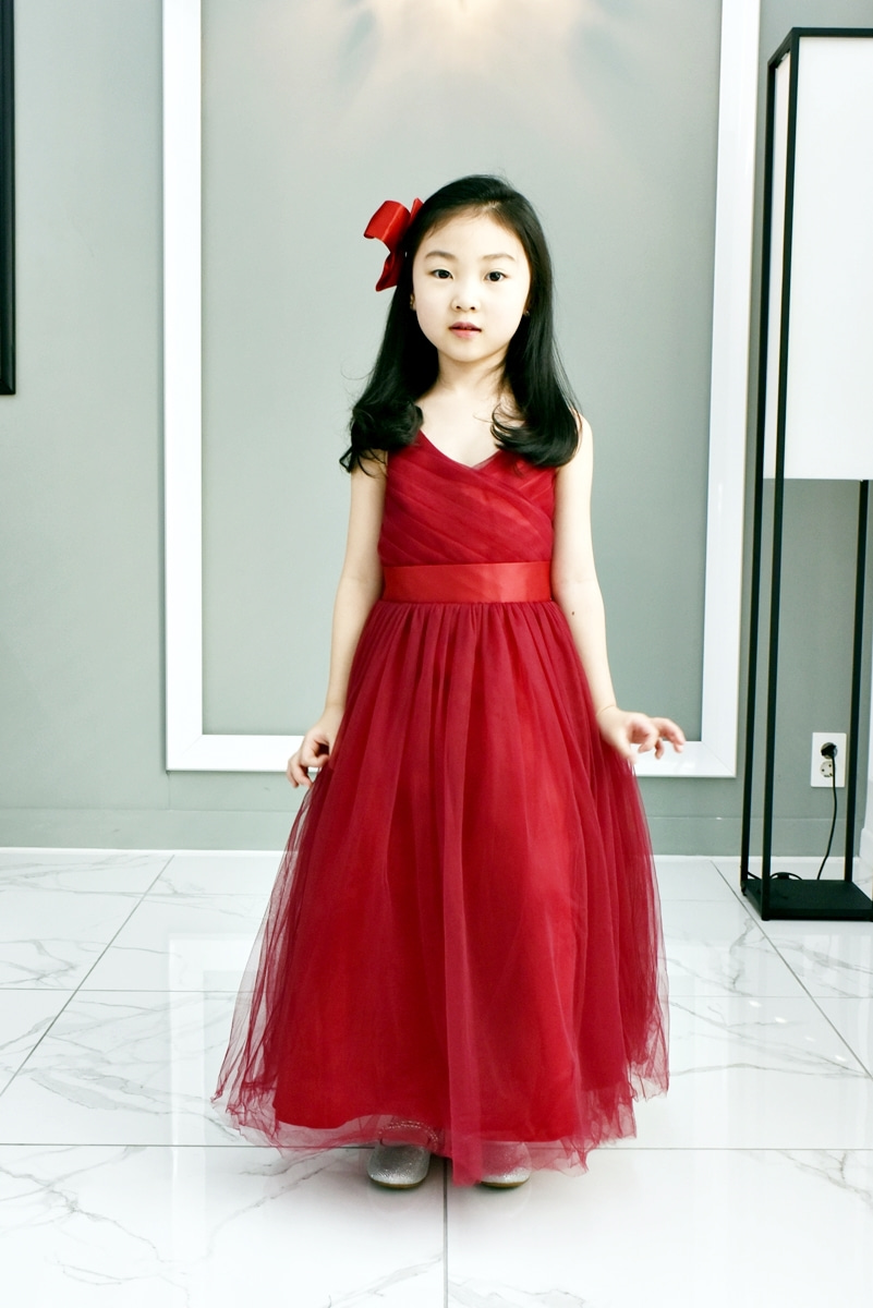 JDL19003/Princess / Sleeveless Dress/ RED WINE / Today delivery (1PM)