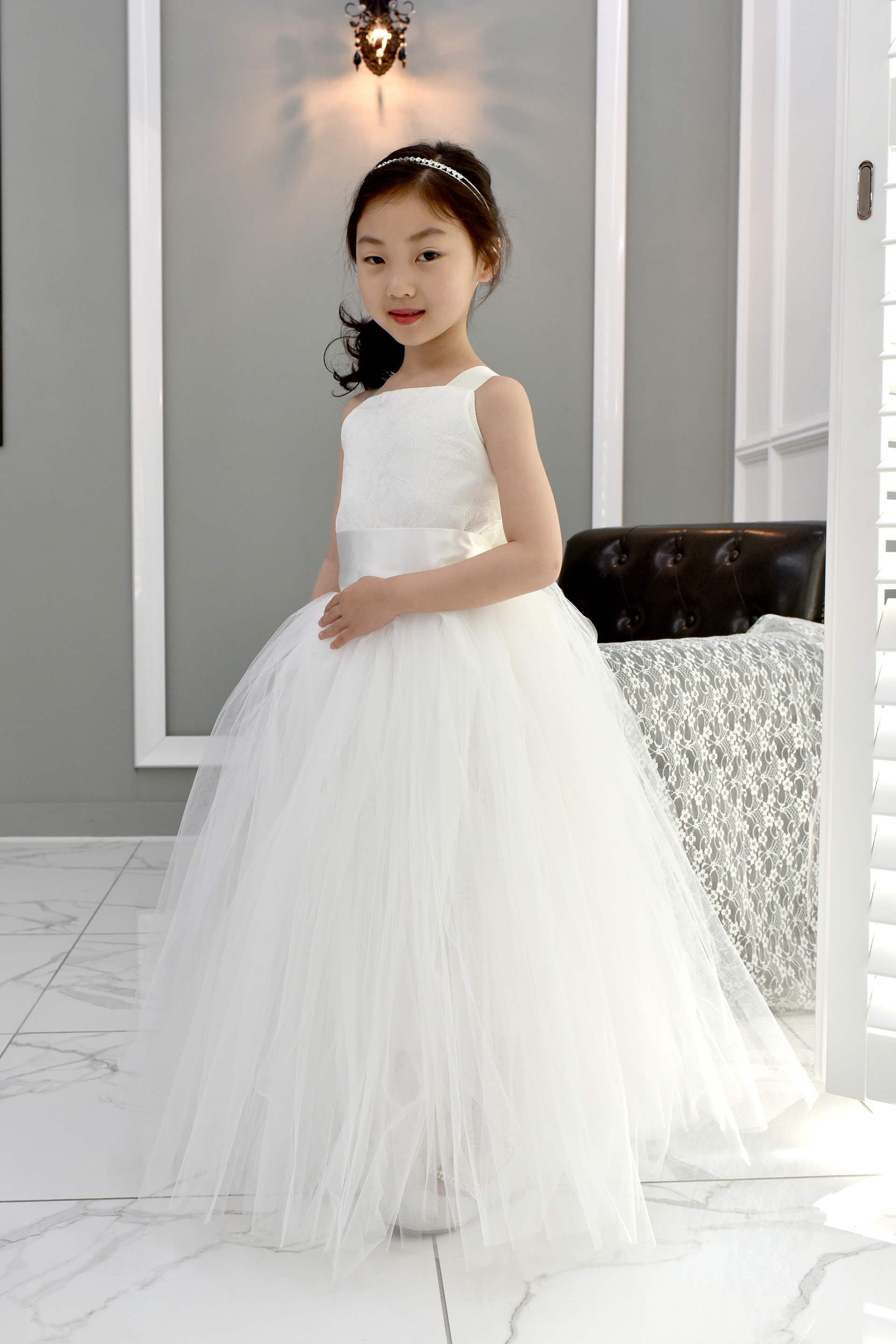 JDL19038/RENTAL/Princess / Sleeveless Dress/White