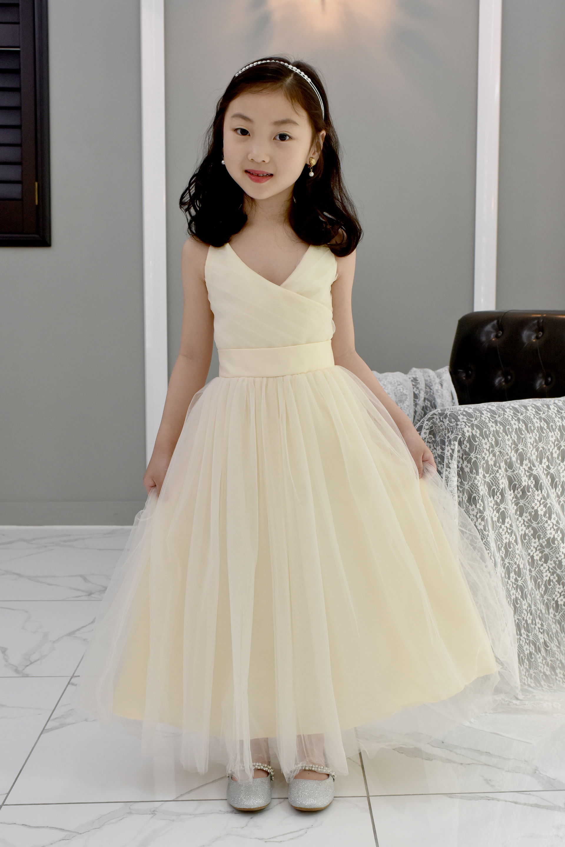 JDL19035/Princess / Sleeveless / IVORY / Today delivery (1PM)